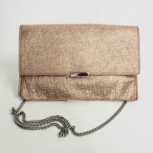 Loeffler Randall Rose Gold Envelope Clutch